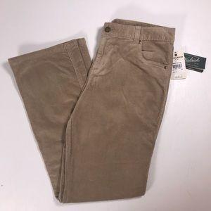 Woolrich corduroy pants womens 10 Khaki Tan NWT